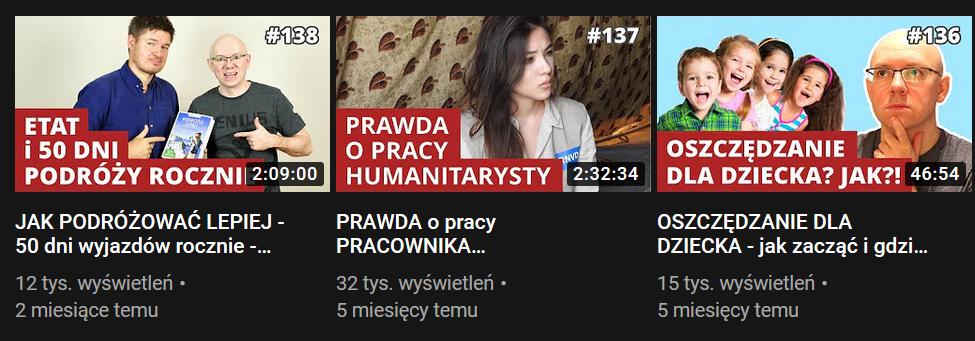 Michał Szafrański Podcast na YouTube